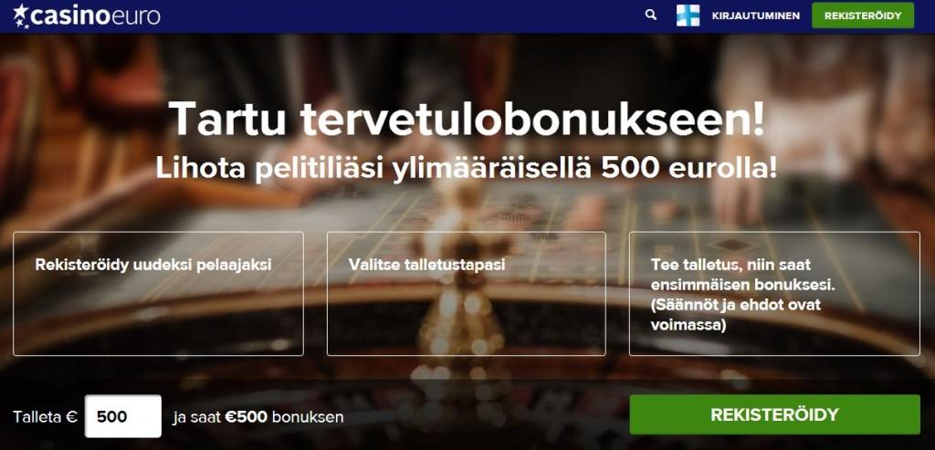 Kasino Euro ilmaista pelirahaa