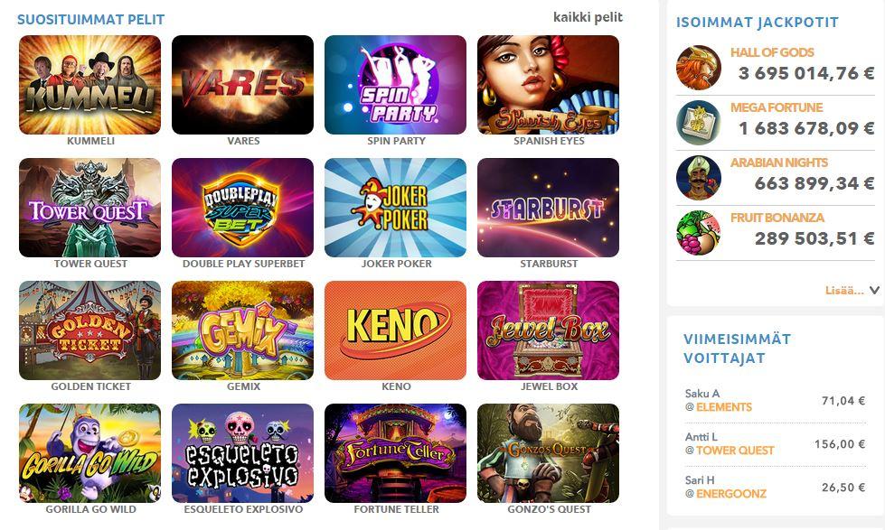 kolikkopelit uudet nettikasinot